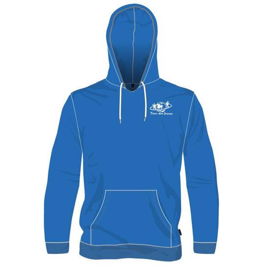 Image sur Chandail à capuchon - Vêtements réguliers (Bleu royal)